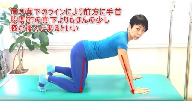 10-04_肩の真下のラインにより前方に手首股関節の真下よりもほんの少し膝が後ろに来るといい