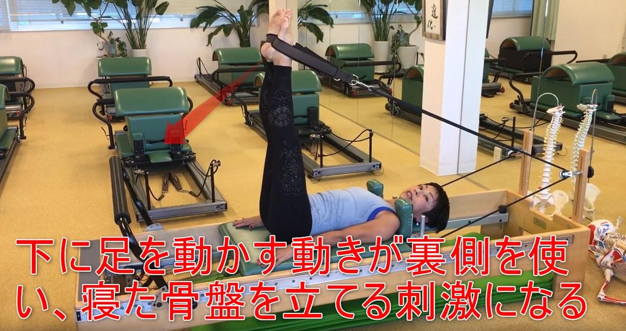 59-06_下に足を動かす動きが裏側を使い、寝た骨盤を立てる刺激になる